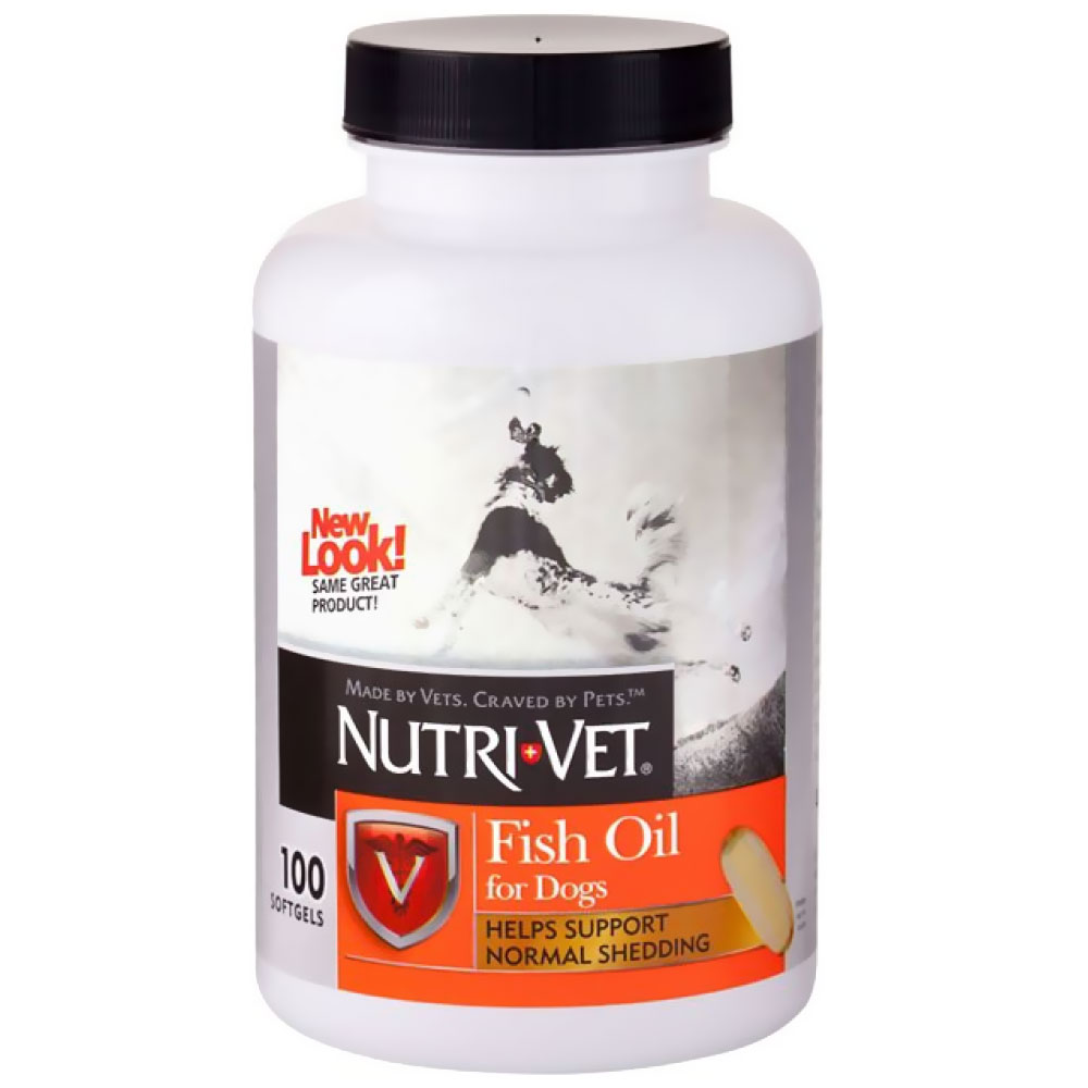 Nutri-Vet Fish Oil Softgels for Dogs (100 count)