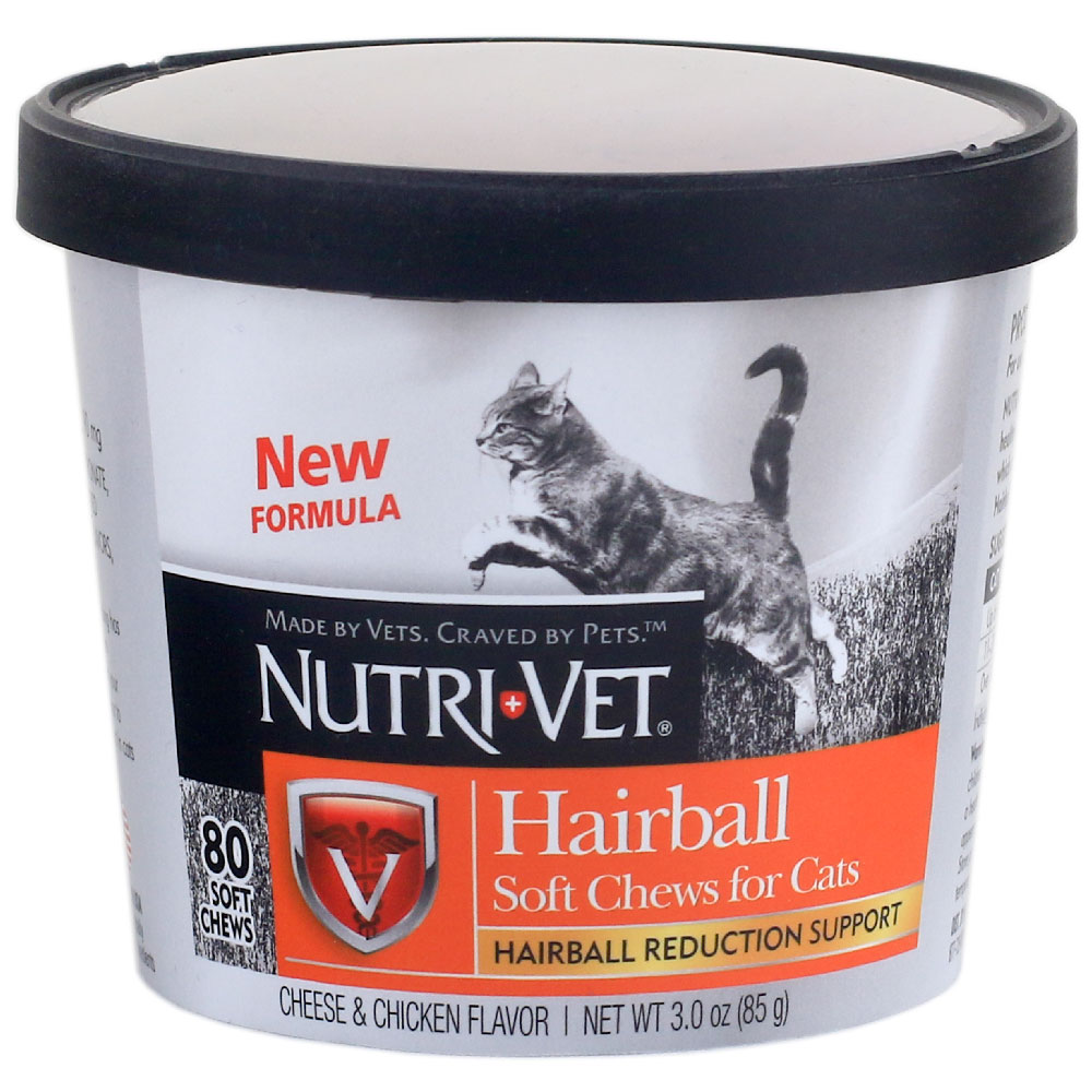 NUTRI-VET-HAIRBALL-REDUCTION-SUPPORT-CATS-80-SOFT-CHEWS