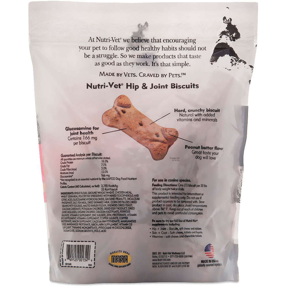 NUTRI-VET-HIPJOINT-BISCUITS-DOGS-166MG-19OZ-PEANUTBUTTER