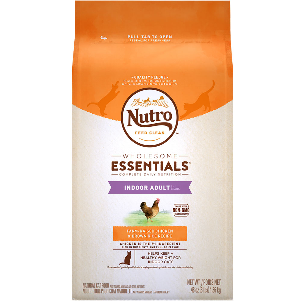 Nutro Wholesome Essentials Chicken & Brown Rice - Indoor Adult Cat (3 lb) im test