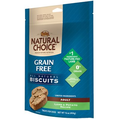 Nutro Natural Choice Grain Free Lamb & Potato Biscuit - Adult Dog (16 oz)