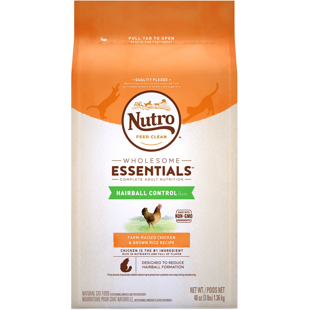 Nutro Wholesome Essentials Hairball Control Chicken & Brown Rice - Adult Cat (3 lb) im test