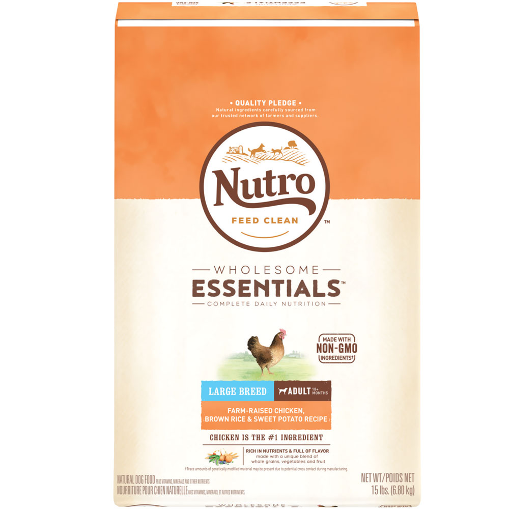Nutro Wholesome Essentials Large Breed Adult Chicken, Brown Rice & Sweet Potato Recipe (15 lb) im test