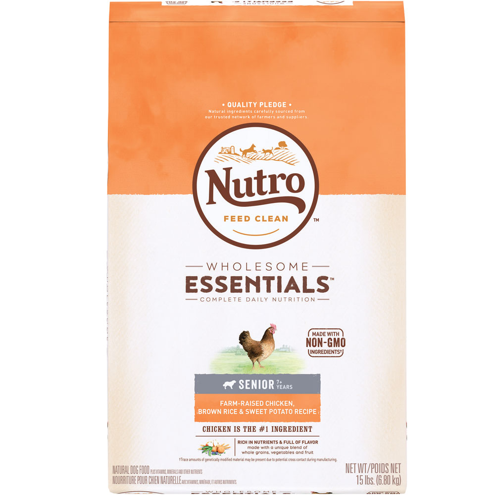 Nutro Wholesome Essentials Senior Chicken, Brown Rice & Sweet Potato Recipe (15 lb) im test