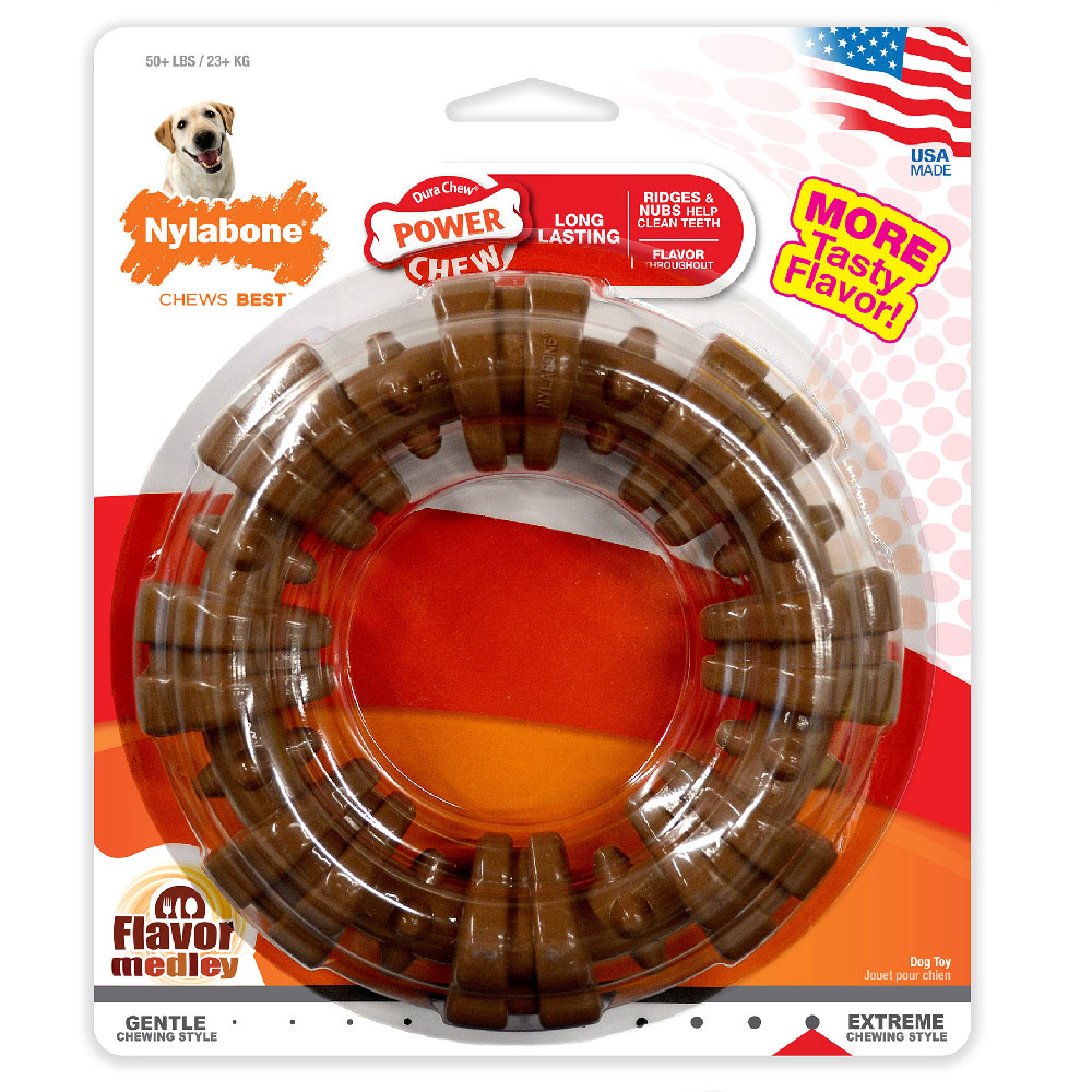 Nylabone DuraChew Plus Textured Ring Dog Chew Dog Toy - Large im test
