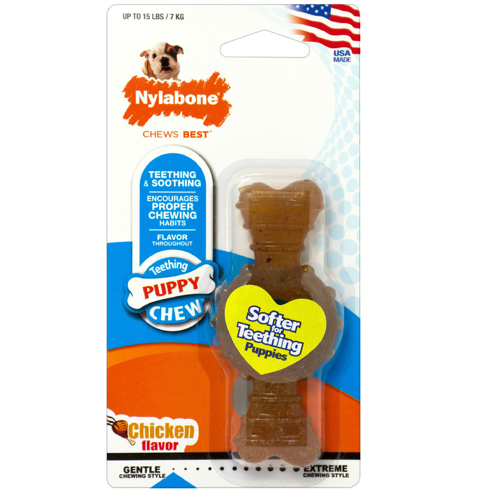 NYLABONE-PUPPY-RING-TEETHING-CHICKEN-PETITE-SMALL