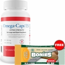 Omega-Caps ES For Large & Giant Dogs (60 Softgel Capsules) + Free BONIES Skin & Coat Health LARGE SINGLE BONE (2.23 oz)
