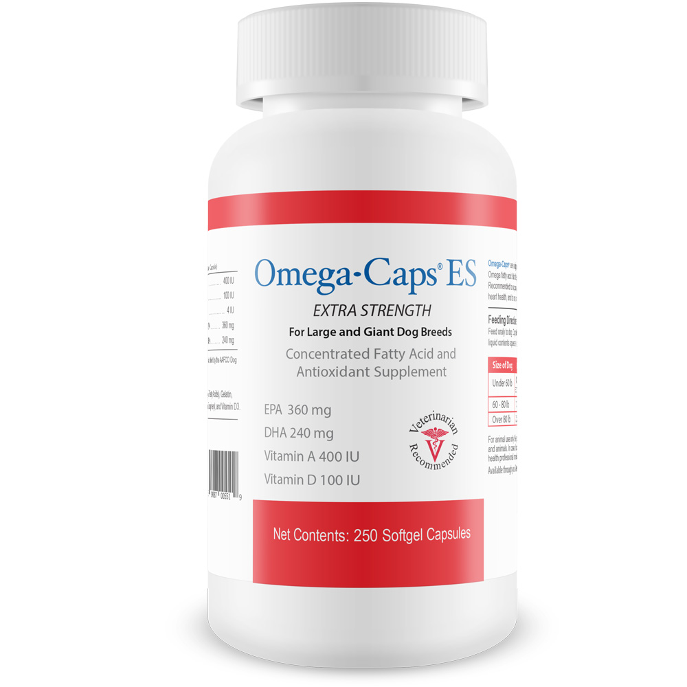 Omega-Caps ES For Large & Giant Dogs (250 Softgel Capsules) im test