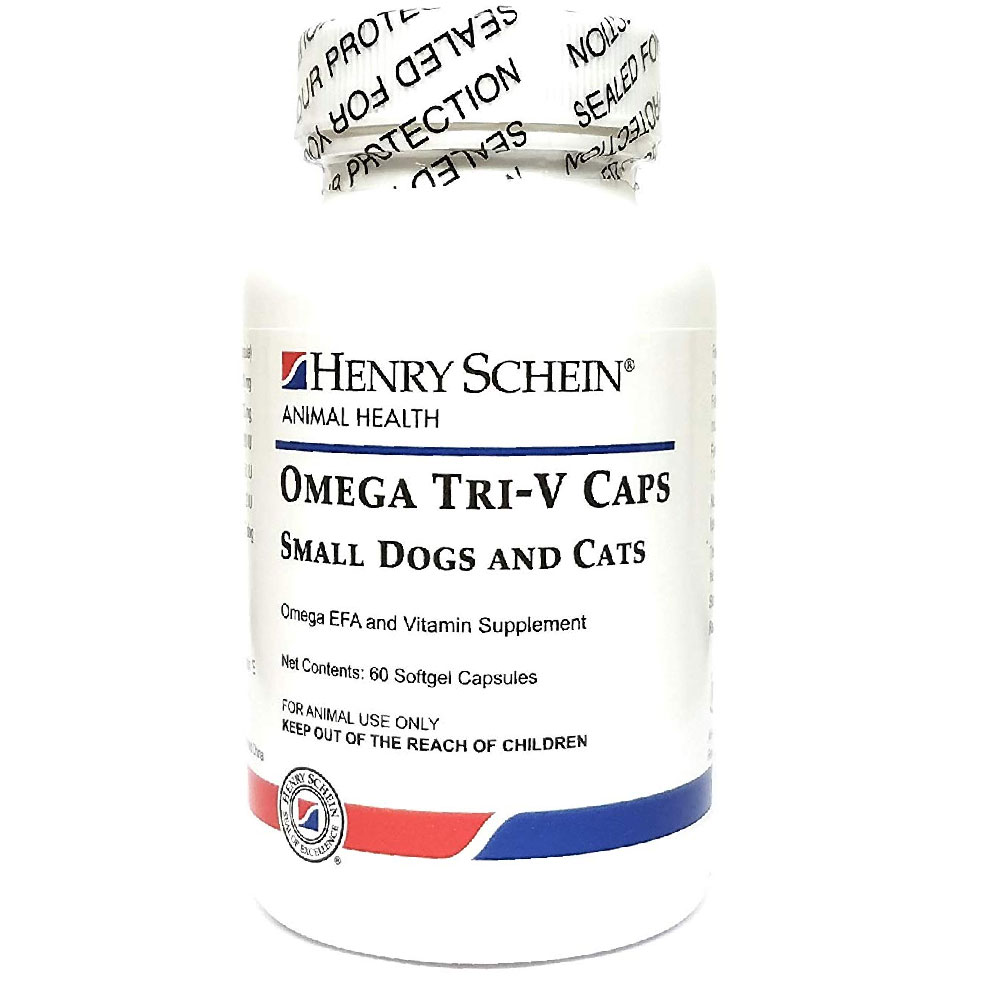 Omega Tri-V (EFA + Vitamins) Gel Capsules for Cats & Small Dogs (60 count) im test