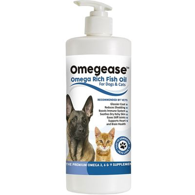 Omegease - Omega Rich Fish Oil for Dogs & Cats (32 fl oz)