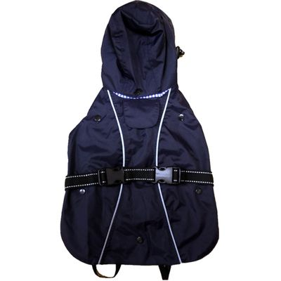 """One For Pets All-Weather Dog Coat - Navy 12"""""""