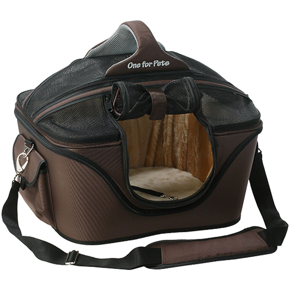 ONE4PETS-DELUXE-PET-CARRIER-BROWN