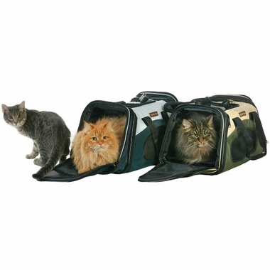 ONE4PETS-EXPANDABLE-PET-CARRIER-OLIVE-SMALL