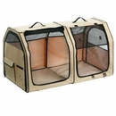 "One for Pets Portable Fabric Kennel & Cat Show House - Cream (24""x24""x42"")"