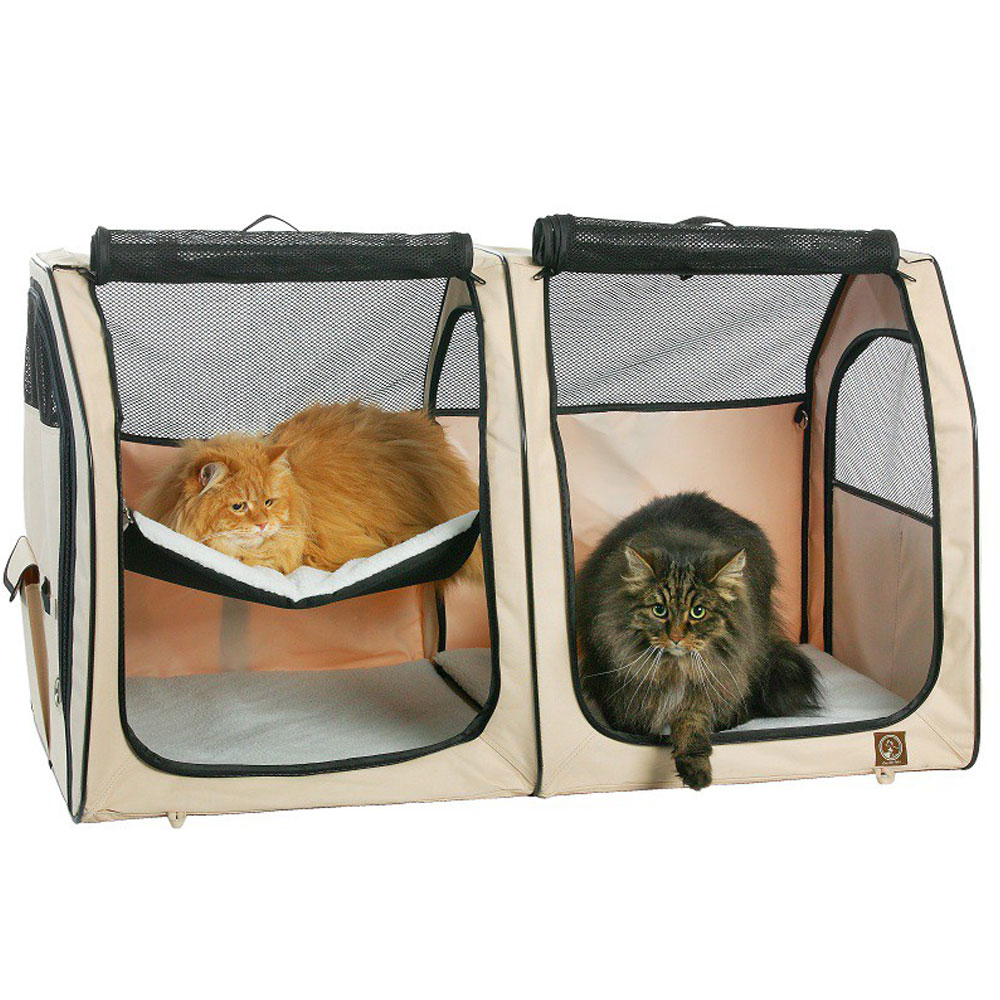 ONE4PETS-PORTABLE-KENNEL-CAT-SHOW-HOUSE-CREAM
