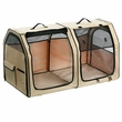 """One for Pets Portable Fabric Kennel & Cat Show House - Cream (24""""x24""""x42"""")"""