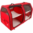 """One for Pets Portable Fabric Kennel & Cat Show House - Red (24""""x24""""x42"""")"""