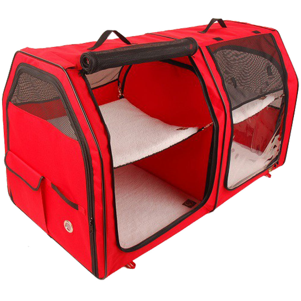 ONE4PETS-PORTABLE-KENNEL-CAT-SHOW-HOUSE-RED