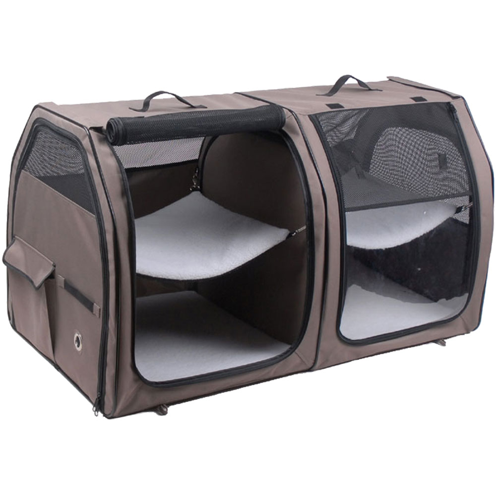 ONE4PETS-PORTABLE-KENNEL-CAT-SHOW-HOUSE-TAN