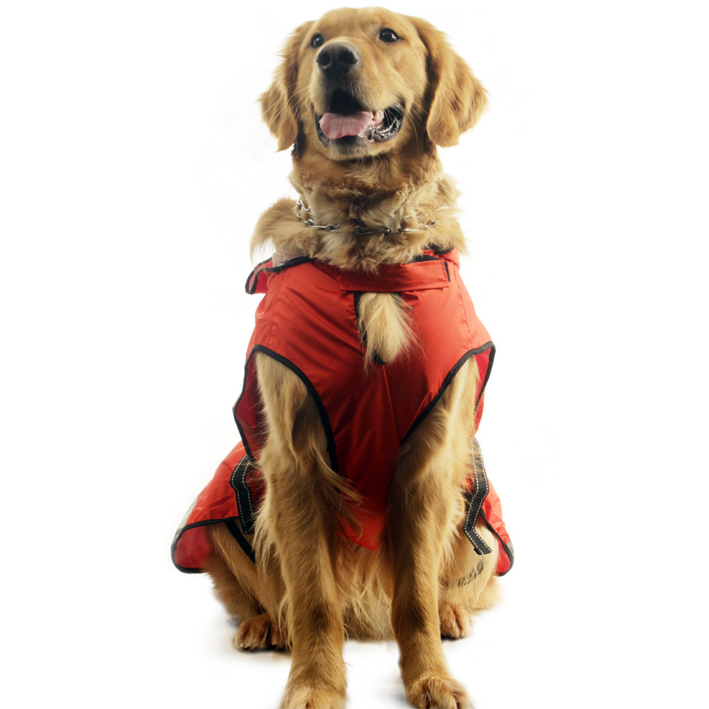 ONE4PETS-HOODED-DOG-RAINCOAT-ORANGE-RED-10