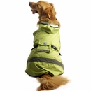 One For Pets Safety Hooded Dog Raincoat - Spring 10""