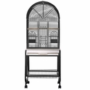 """Opening Dome Top Bird Cage - Black (22""""x17""""x58"""")"""