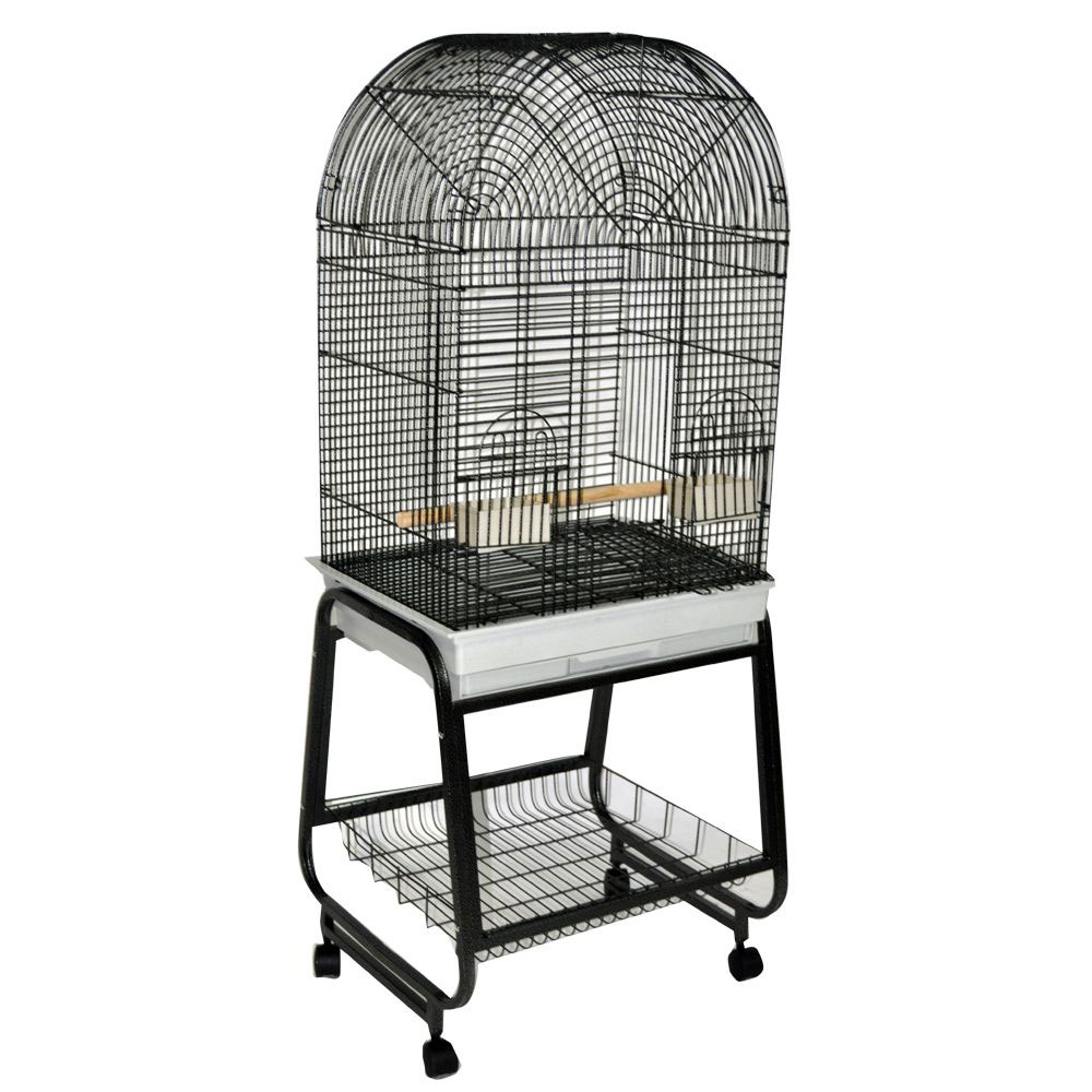 Opening Dome Top Bird Cage - Black - 22x17x58 - from EntirelyPets