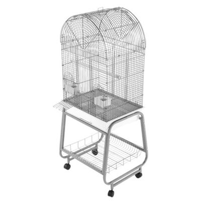 "Opening Dome Top Bird Cage - White (22""x17""x58"")"