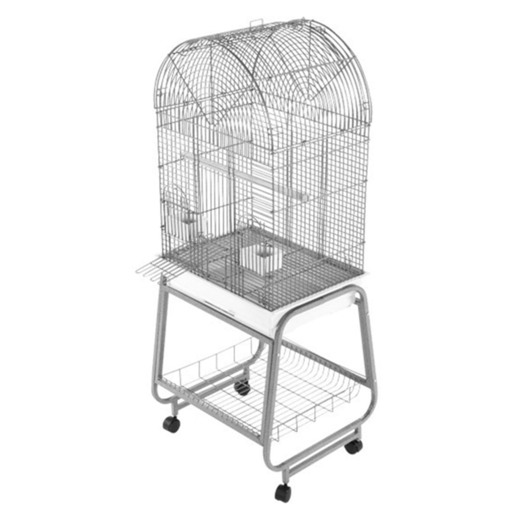 OPENING-DOME-TOP-BIRD-CAGE-WHITE