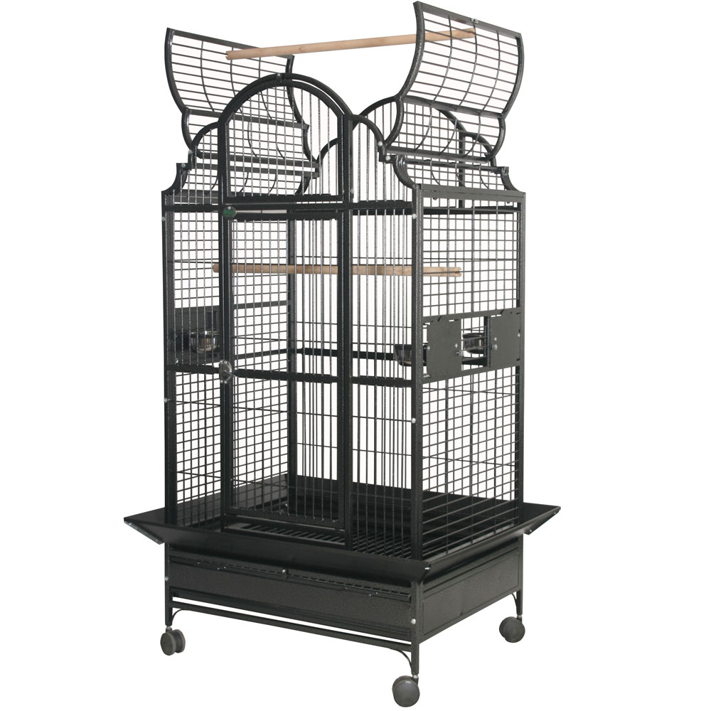 Opening Victorian Bird Cage with 5/8 Bar Spacing - Stainless Steel - 32x23x64 - from EntirelyPets