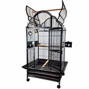 "Opening Victorian Top Bird Cage - Black (32""x23""x64"")"