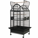 "Opening Victorian Top Bird Cage - Black (36""x28""x70"")"