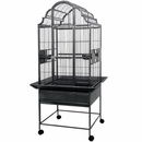 """Opening Victorian Top Bird Cage with 1"""" Bar Spacing in Stainless Steel 40""""x32""""x75"""""""