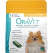 OraVet Dental Hygiene Chews - XSmall UP TO 10LBS (14 Count)