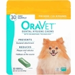 OraVet Dental Hygiene Chews - XSmall UP TO 10LBS (30 Count)