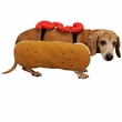 Otis and Claude Fetching Fashion Hot Diggity Dog Costume Ketchup (Medium)