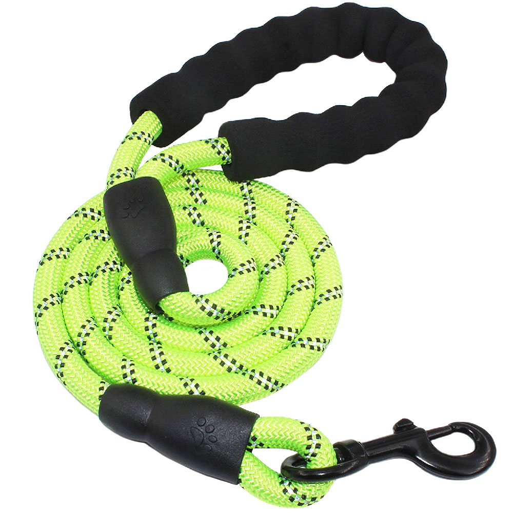 REFLECTIVE-ROPE-LEASH-GREEN