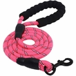 Otis & Claude Reflective Rope Leash - Pink