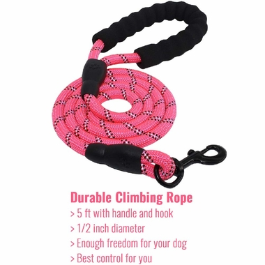 REFLECTIVE-ROPE-LEASH-PINK