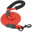 Otis & Claude Reflective Rope Leash - Red