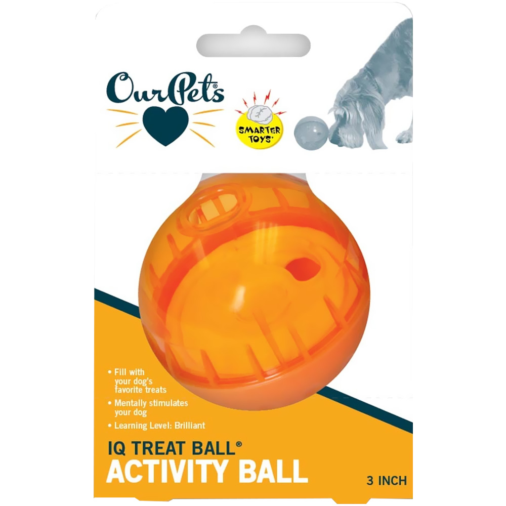 """""""Ourpet IQ Treat Ball (Assorted) - 3"""""""""""" im test"""