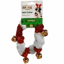 Outward Hound Holiday Bell Collar Red/White - Large