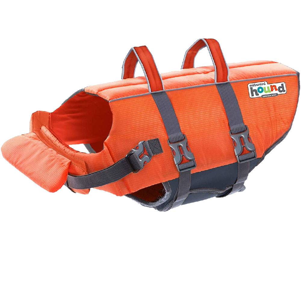 Outward Hound PupSaver Ripstop Life Jacket - Orange (Large) im test
