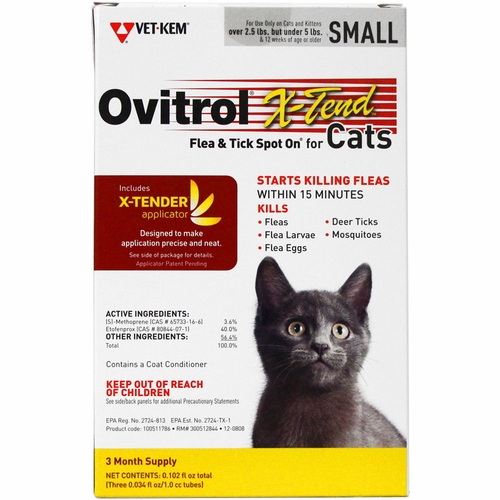 Bio Spot Active Care Flea and Tick Spot On For Cats 2.5-5 lbs3 Month Supply