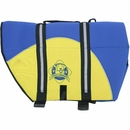 Paws Aboard Pet Life Jacket - Blue/Yellow Neoprene (Medium)