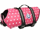 Paws Aboard Pet Life Jacket - Pink Polka Dot (Large)