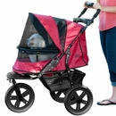 Pet Gear AT3 No-Zip Stroller - Rugged Red