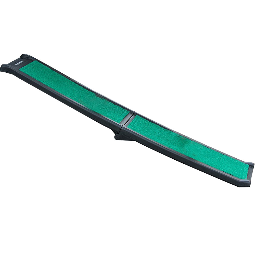 Pet Gear Bi-Fold Pet Ramp With Supertrax - Black/Green - For Dogs - from EntirelyPets