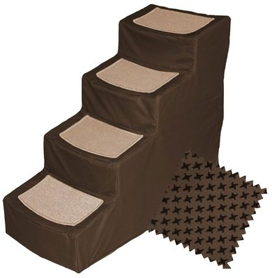 Pet Gear Designed Stair IV with Removeable Cover - Chocolate - For Dogs - from EntirelyPets