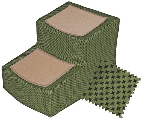 Pet Gear Designer Stair ll with Removeable Cover - Sage - For Dogs - from EntirelyPets